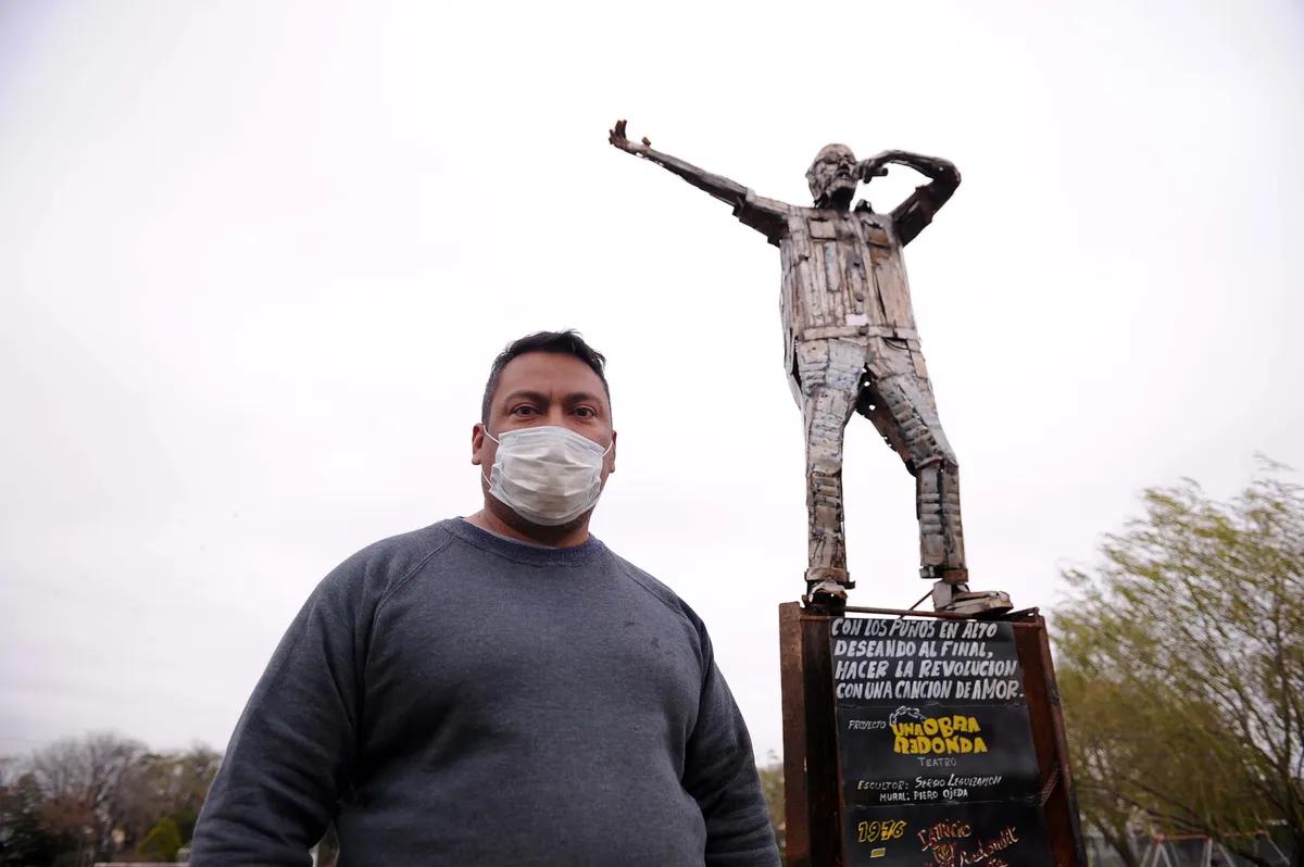 La Matanza: cómo se realizó la escultura homenaje al Indio: