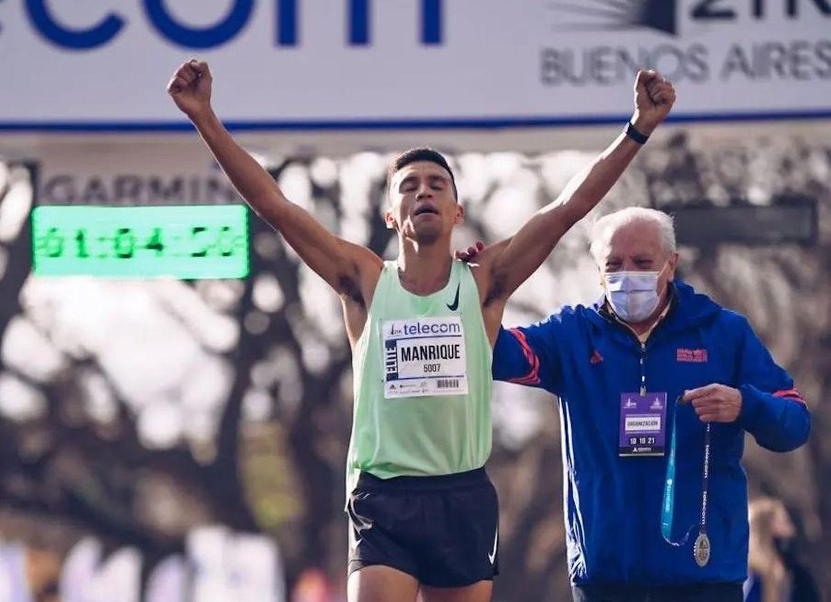 Merlo: Fabian Manrique ganó la media Maratón de Buenos Aires