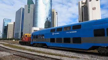 Los coches doble piso cuando eran utilizados en el Tren Sarmiento