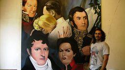 altText(Conocé a Ignacio Garat: el artista de Ituzaingo que pintó el mural gigante sobre la Guerra de Malvinas en el túnel Monte Longdon)}