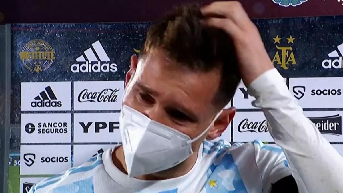 Lionel Messi emocionado hasta las lágrimas por salir campeón