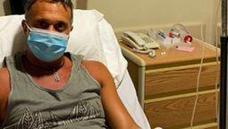 """altText(Sergio Lapegüe en terapia intensiva, con casco de oxígeno: """"Último paso para no caer al vacío"""")}"""
