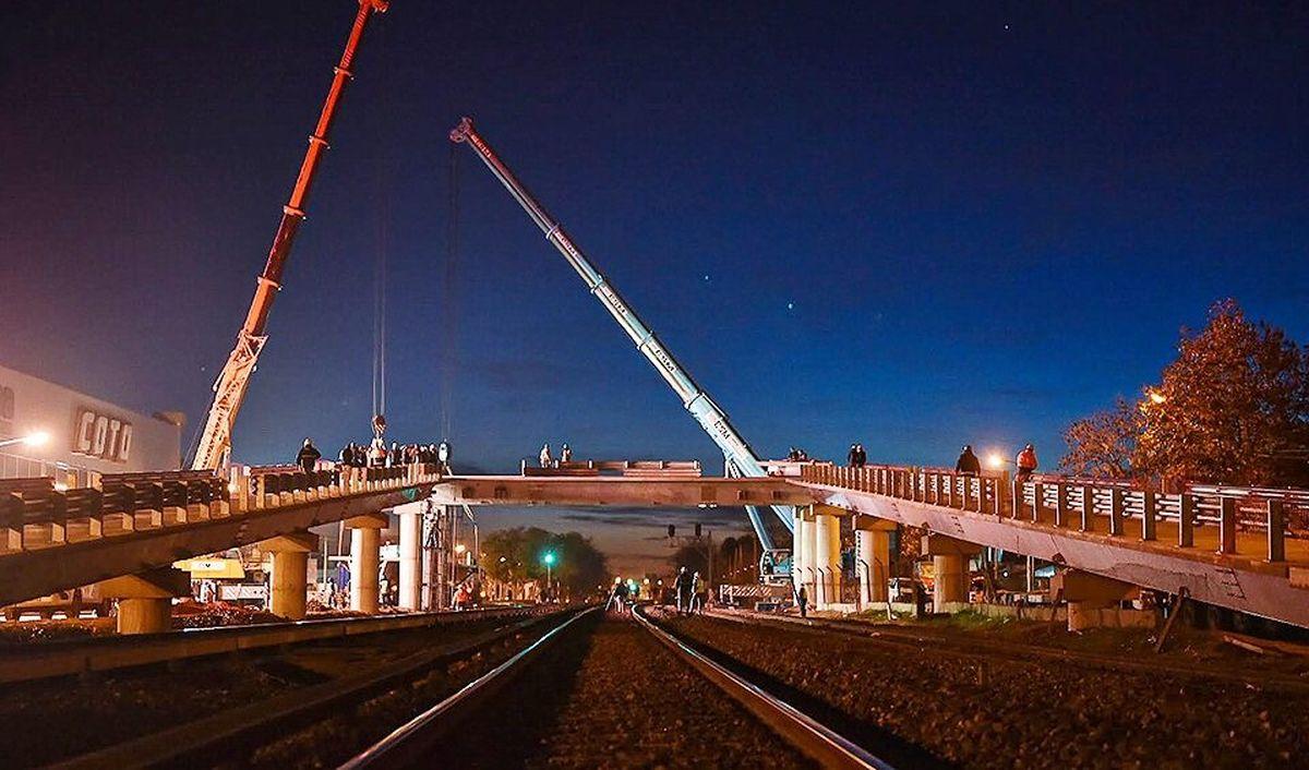 Tren Sarmiento: Mañana se inaugura el puente de Padua