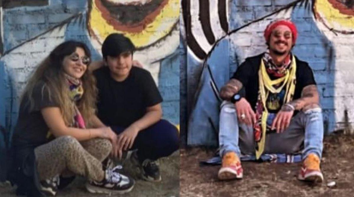 Gianinna Maradona y Daniel Osvaldo, juntos y enamorados